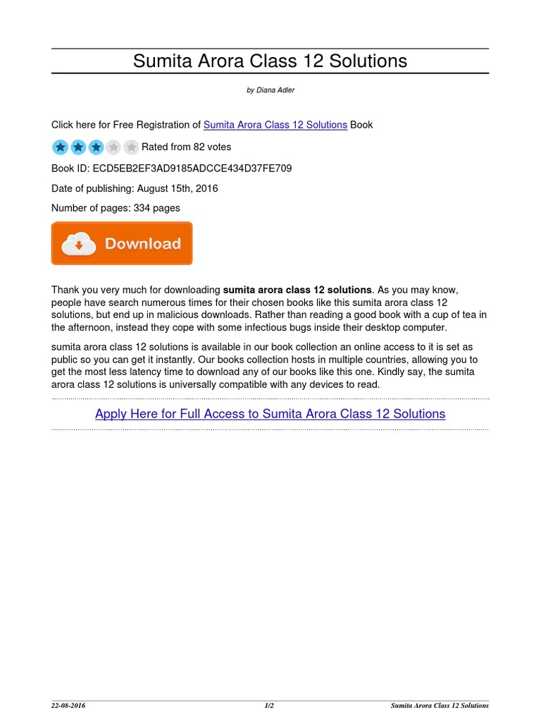 sumita arora class 12 solutions portable document format computing