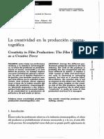 La Creatividad en La Produccion Cinematografica