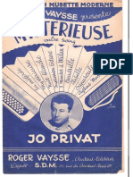 Sheets_Jo Privat - Mystérieuse (Valse Swing)