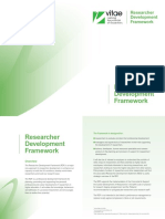 Researcher Development Framework RDF Vitae