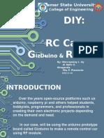 DIY RC CAR using RF Module and Arduino/Gizduino board