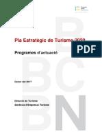Pla Estratègic de Turisme de Barcelona 2016-2020