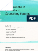 Applications in Clinical and Counseling Settings