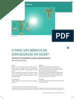 Papel Dos Médicos Judicialização Saúde