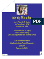 John Galland Integrity Workshop