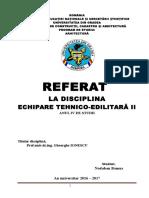 REFEREAT TEHNICO EDILITARE