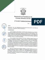 Resolución N°023-2017-SINEACE-CDAH-P