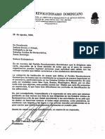 Carta de Peña Gómez a embajadora de EE.UU. y la respuesta