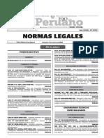 Norma publicado en el diario el peruano