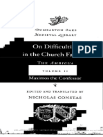 (Dumbarton Oaks Medieval Library) Maximus the Confessor, Nicholas Constas (ed.)-On the Difficulties in the Church Fathers_ The Ambigua. II-Harvard Univer.pdf