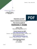 Manuel de Préparation Technicien Premier Grade2005