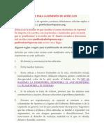 Reglas Para La Remisión de Artículos de Aporrea Venezuela