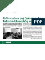 1. česko-slovenský historicko-dokumentačný workshop (Colné aktuality 5-6/2010)