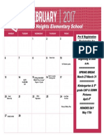 Feb 2017 Calendar