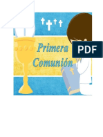 Folleto Primera Comunion Niños