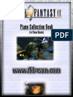 Final Fantasy IX - Piano Collection Book - 14 Sheets - 59 Pages