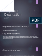 Proposed Dissertation