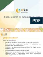 Infraestructuras de Datos Espaciales con software libre (Asociación gvSIG)