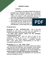 Opinion Essays layout
