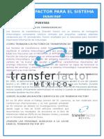 Material Factor de Transferencia