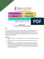 #MacroSW Organizing Chat Series