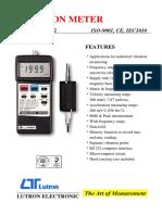 Vibration Meter Lutron VB-8212 Dijual di Marga Setia