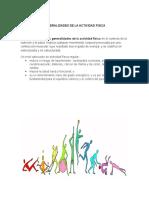 Generalidades de La Actividad Fisica