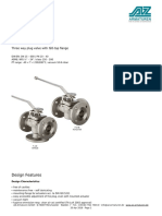 ISO5211 Mounting Flange of the Plug Valve and the Dimensions of the Valve Stem