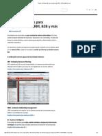 Tipos de Sistemas Para Empresas ERP, CRM, B2B y Mas
