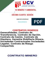 Décima Cuarta Sesión de Derecho Ambiental y Minero.