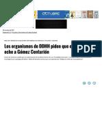 Los Organismos de DDHH Piden Que El Gob... Centurión _ Página12 _ La Otra Mirada