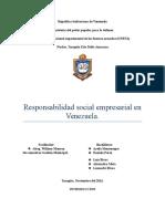 Responsabilidad Social Empresarial en Venezuela Trabajo Kati.