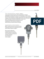 Cameron Temperature Switches Technical Data Sheet