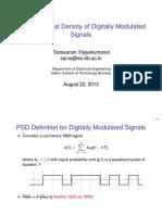 Psd of Modulated Signals