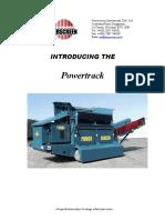 Criba Powertrack 800.- Especificaciones