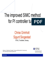 The improved SIMC method for PI controller tuning.pdf