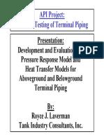 API Terminal Piping Testing Model Presentation