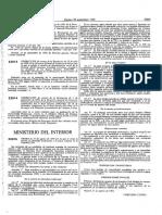 Orden de 31 de Agosto de 1990 Tarjeta de Identidad y Placa Insignia en La Guardia Civil