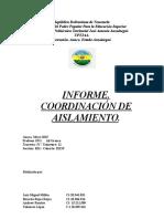 COORDINACIÓN DE AISLAMIENTO.