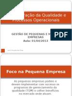 Administração Da Qualidade e Processos Operacionais 01