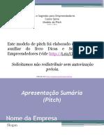 Modelo de Pitch - Livro Dicas e Segredos Para Empreendedores - Cassio Spina