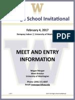 2017 UW High School Invite Meet Info