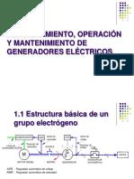 Funcionamiento, Operación y Mantenimiento de Generadores Eléctricos