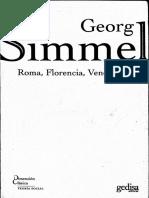 Roma, Florencia, Venecia - Georg Simmel