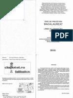 Variante 2009 rezolvate Ghid de Pregatire Bacalaureat Limba Si Literatura Romana Variante 2009 rezolvate