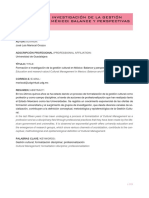 Formación e investigación en gestión cultural en México