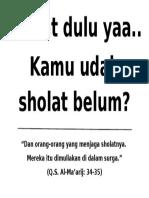 Sholat Dulu Yaa