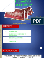 Etiology of Malocclusion 2016