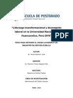 TORRES HUAMANI JOSE Liderazgo Transformacional y Desempeño Laboral en La Universidad Nacional de Huancavelica, Perú - 2016