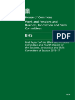 House of Commons Work and Pensions and Business, Innovation and Skills Committees